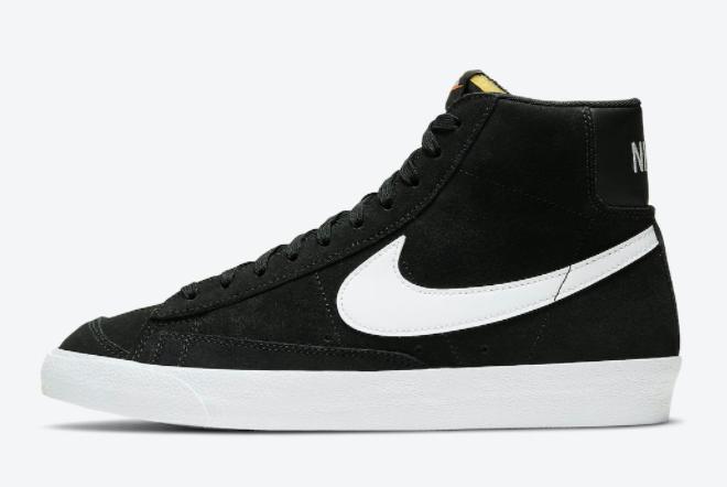Nike Blazer Mid '77 Suede Black/White 2020 For Sale CI1172-005